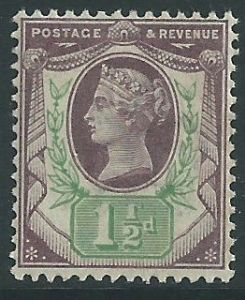 SG198 1½d Purple & Green 1887 Jubilee Issue Unmounted Mint (Queen Victoria Surface Printed Stamps)